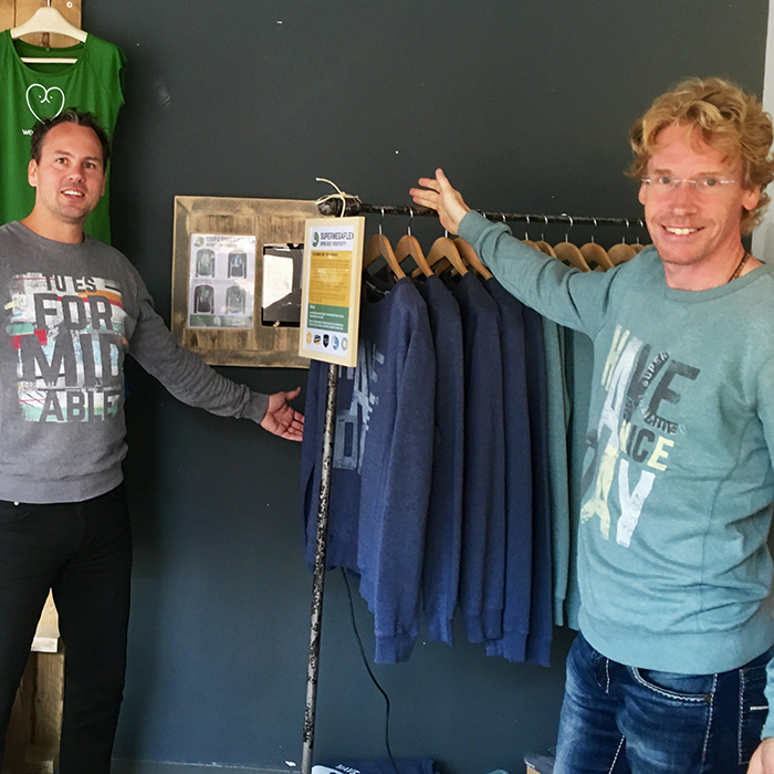 Supermegaflex in de pop-up-store